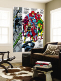 Giant-Size Avengers No.1 Group: Thor, Captain America, Hawkeye, Black Panther and Vision Wall Mural by John Buscema