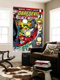 Daredevil No.102 Cover: Stiltman, Black Widow and Daredevil Wall Mural by Syd Shores