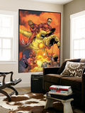 Ultimates Annual No.1 Group: Goliath, Hawkeye, Wasp, Captain America and Ultimates Charging Wall Mural by Steve Dillon