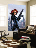 Black Widow No.1 Cover: Black Widow Fighting Wall Mural by Greg Land
