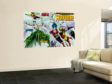 Marvel Comics Presents No.7 Cover: Spider-Man, Vulture and Kraven the Hunter Swimming Wall Mural by John Buscema