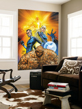 Fantastic Four No.553 Cover: Thing, Mr. Fantastic, Invisible Woman and Human Torch Crouching Wall Mural by Michael Turner