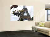 Eiffel Tower Souvenirs Wall Mural by Lou Jones