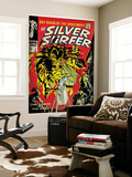 Marvel Comics Retro: Silver Surfer Comic Book Cover No.3, Fighting Mephisto (aged) Wall Mural