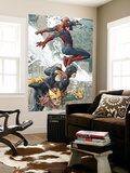X-Men/Spider-Man No.1 Cover: Spider-Man, Marvel Girl, Cyclops and Beast Wall Mural by Mario Alberti