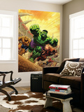 Marvel Adventures Hulk No.12 Cover: Hulk, Thing and Juggernaut Wall Mural by David Nakayama