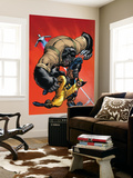 X-Men vs. Agents of Atlas No.1 Cover: Wolverine and Gorilla-Man Wall Mural by Ed McGuiness