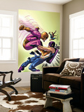 Marvel Adventures The Avengers No.35 Cover: Batroc The Leaper, Hawkeye and Spider-Man Wall Mural by David Williams
