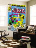 New Mutants Annual 3 Cover: Impossible Man and Warlock Reproduction murale g&#233;ante par Alan Davis