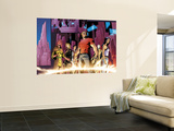 Exiles No.95 Group: Morph, Sabretooth, Psylocke and Blink Wall Mural by Clayton Henry