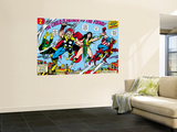 Giant-Size Avengers 1 Group: Thor, Captain America, Iron Man, Vision and Mantis Flying Wall Mural by Rich Buckler