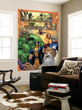 Marvel Adventures The Avengers No.14 Group: Captain America Wall Mural by Leonard Kirk