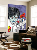 X-Statix Presents: Dead Girl No.2 Cover: Dr. Strange, Dead Girl and Phantom Rider Fighting Wall Mural by Nick Dragotta