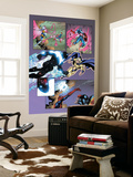 New Thunderbolts No.14 Group: Photon, Sentry, Captain America and Songbird Wall Mural by Tom Grummett