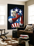 The Marvels Project No.5 Cover: Captain America Wall Mural by Steve MCNiven