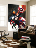 Captain America No.600 Cover: Captain America and Bucky Wall Mural by Steve Epting