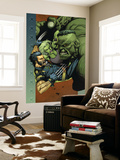 Ultimate Wolverine vs. Hulk No.4 Cover: Wolverine, Hulk and She-Hulk Wall Mural by Leinil Francis Yu