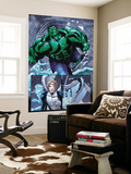 Hulk Team-Up No.1 Group: Hulk, Angel and Iceman Wall Mural by Sanford Greene