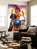Marvel Divas No.2 Cover: Hellcat, Black Cat, Photon and Firestar Wall Mural