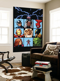 Marvel Adventures The Avengers 25 Cover: Captain America Wall Mural by Leonard Kirk