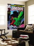 Daredevil No.163 Cover: Hulk and Daredevil Fighting Wall Mural by Frank Miller