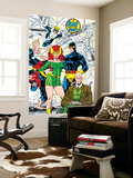 X-Men 1 Pin-up Group: Blast From The Past, Original X-Men Wall Mural by Jim Lee