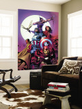 Avengers No.80 Cover: Iron Man, Captain America, Vision, Scarlet Witch, Hawkeye, Wasp and Avengers Wall Mural by David Finch