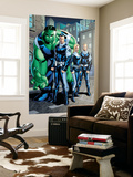 Exiles No.95 Group: Doom, Victor Von, Human Torch, Invisible Woman and Hulk Wall Mural by Clayton Henry