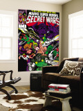Secret Wars 6 Cover: Dr. Doom, Absorbing Man, Lizard, Doctor Octopus, Wrecker and Ultron Wall Mural by Mike Zeck