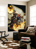 Captain Britain and MI13 15 Cover: Black Knight Wall Mural by Mico Suayan