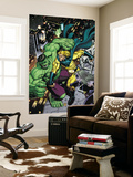 Hulk No.8 Cover: Hulk, Sentry and Ms. Marvel Wall Mural by Arthur Adams
