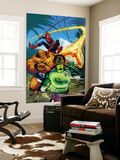 Spider-Man Family 7 Cover: Spider-Man, Thing, Looter and Human Torch Wall Mural by Karl Kesel
