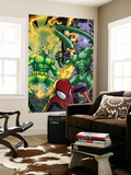 Marvel Adventures Spider-Man No.48 Group: Spider-Man, Electro and Scorpion Wall Mural by Jonboy Meyers