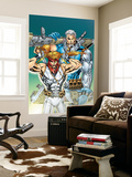 X-Force: Shatterstar 3 Cover: Shatterstar and Cable Jumping Wall Mural by Marat Mychaels