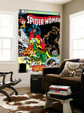 Spider-Woman No.37 Cover: Spider Woman, Siryn, Juggernaut and Nick Fury Wall Mural by Steve Leialoha