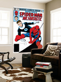 Marvel Team-Up No.132 Cover: Spider-Man and Mr. Fantastic Wall Mural by Sal Buscema