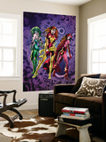 Fantastic Force 2 Cover: Phoenix, Scarlet Witch and Polaris Wall Mural by Bryan Hitch