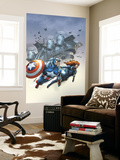 Marvel Team-Up No.6 Cover: Black Widow and Captain America Swinging Wall Mural by Scott Kolins