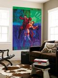 Elektra 35 Cover: Daredevil and Elektra Fighting and Shooting Wall Mural by Brian Stelfreeze