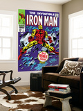 The Invincible Iron Man 1 Cover: Iron Man Wall Mural by Gene Colan