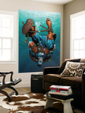 Marvel Adventures Super Heroes No.12 Cover: Captain America Wall Mural by Clayton Henry
