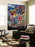 Avengers No.21 Cover: Captain America, Thor, Iron Man, Black Panther and Avengers Wall Mural by George Perez