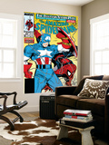 Amazing Spider-Man No.323 Cover: Captain America and Spider-Man Wall Mural by Todd McFarlane