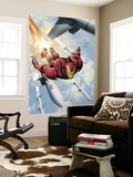 Invincible Iron Man No.3 Cover: Iron Man Reproduction murale par Salvador Larroca