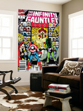 Infinity Gauntlet No.2 Cover: Captain America, Thor and She-Hulk Wall Mural by George Perez