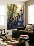 Captain America 602 Cover: Captain America Wall Mural by Gerald Parel