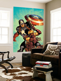 Ultimate Avengers 2 Cover: Hawkeye and Captain America Wall Mural by Carlos Pacheco