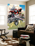 Siege No.1 Group: Iron Patriot, Hawkeye, Ms. Marvel, Wolverine, Spider-Man and Ares Wall Mural by Olivier Coipel