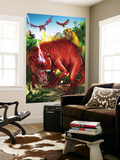 Lockjaw and the Pet Avengers No.2 Group: Devil Dinosaur, Zabu, Red Wing and Lockheed Wall Mural by Ig Guara