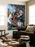 Heroes For Hire 7 Group: Black Cat, Knight, Misty, Tarantula, Shang-Chi, Wing and Colleen Fighting Wall Mural by Al Rio